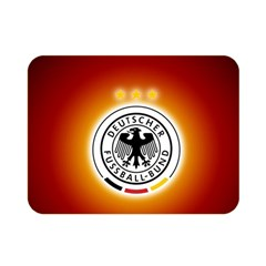 Deutschland Logos Football Not Soccer Germany National Team Nationalmannschaft Double Sided Flano Blanket (mini)
