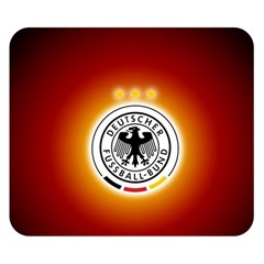 Deutschland Logos Football Not Soccer Germany National Team Nationalmannschaft Double Sided Flano Blanket (small)