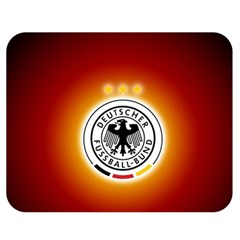 Deutschland Logos Football Not Soccer Germany National Team Nationalmannschaft Double Sided Flano Blanket (medium)