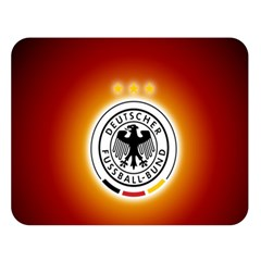 Deutschland Logos Football Not Soccer Germany National Team Nationalmannschaft Double Sided Flano Blanket (large)