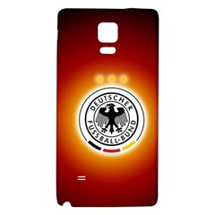 Deutschland Logos Football Not Soccer Germany National Team Nationalmannschaft Galaxy Note 4 Back Case