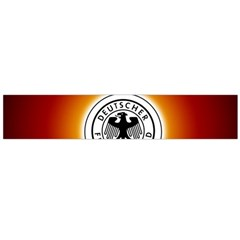 Deutschland Logos Football Not Soccer Germany National Team Nationalmannschaft Flano Scarf (large)
