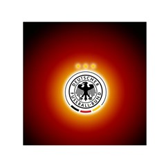 Deutschland Logos Football Not Soccer Germany National Team Nationalmannschaft Small Satin Scarf (square)