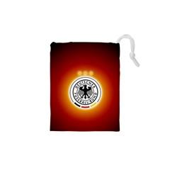 Deutschland Logos Football Not Soccer Germany National Team Nationalmannschaft Drawstring Pouches (xs)