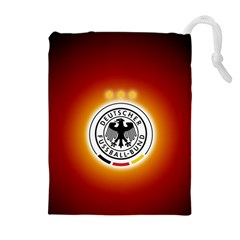 Deutschland Logos Football Not Soccer Germany National Team Nationalmannschaft Drawstring Pouches (extra Large)