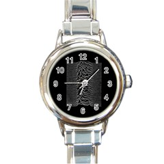 Grayscale Joy Division Graph Unknown Pleasures Round Italian Charm Watch