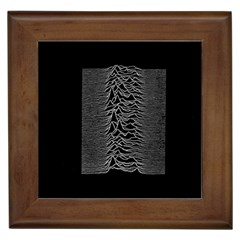 Grayscale Joy Division Graph Unknown Pleasures Framed Tiles