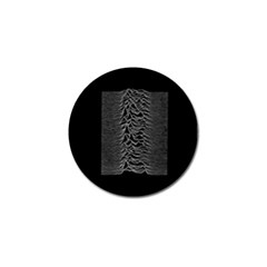 Grayscale Joy Division Graph Unknown Pleasures Golf Ball Marker (4 Pack)