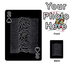 Grayscale Joy Division Graph Unknown Pleasures Playing Cards 54 Designs