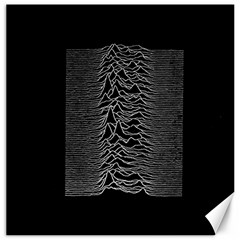 Grayscale Joy Division Graph Unknown Pleasures Canvas 16  X 16