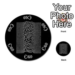 Grayscale Joy Division Graph Unknown Pleasures Playing Cards 54 (round)