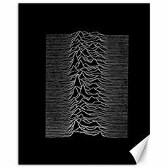 Grayscale Joy Division Graph Unknown Pleasures Canvas 11  X 14