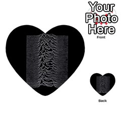 Grayscale Joy Division Graph Unknown Pleasures Multi-purpose Cards (Heart)
