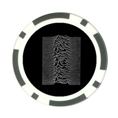 Grayscale Joy Division Graph Unknown Pleasures Poker Chip Card Guards (10 Pack)