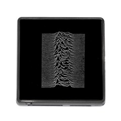 Grayscale Joy Division Graph Unknown Pleasures Memory Card Reader (square)