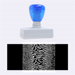 Grayscale Joy Division Graph Unknown Pleasures Rubber Stamps (large)