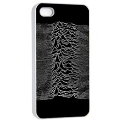 Grayscale Joy Division Graph Unknown Pleasures Apple Iphone 4/4s Seamless Case (white)