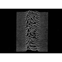Grayscale Joy Division Graph Unknown Pleasures Birthday Cake 3D Greeting Card (7x5)