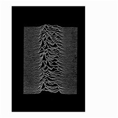 Grayscale Joy Division Graph Unknown Pleasures Small Garden Flag (two Sides)