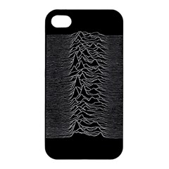 Grayscale Joy Division Graph Unknown Pleasures Apple Iphone 4/4s Premium Hardshell Case