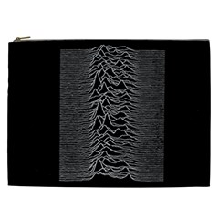 Grayscale Joy Division Graph Unknown Pleasures Cosmetic Bag (xxl)