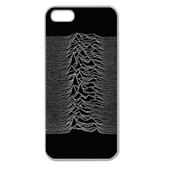 Grayscale Joy Division Graph Unknown Pleasures Apple Seamless Iphone 5 Case (clear)