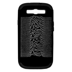 Grayscale Joy Division Graph Unknown Pleasures Samsung Galaxy S Iii Hardshell Case (pc+silicone)