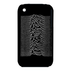 Grayscale Joy Division Graph Unknown Pleasures Apple Iphone 3g/3gs Hardshell Case (pc+silicone)