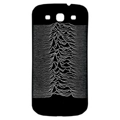 Grayscale Joy Division Graph Unknown Pleasures Samsung Galaxy S3 S Iii Classic Hardshell Back Case