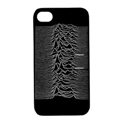 Grayscale Joy Division Graph Unknown Pleasures Apple Iphone 4/4s Hardshell Case With Stand
