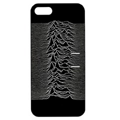 Grayscale Joy Division Graph Unknown Pleasures Apple Iphone 5 Hardshell Case With Stand