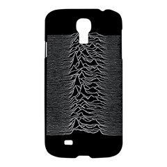 Grayscale Joy Division Graph Unknown Pleasures Samsung Galaxy S4 I9500/i9505 Hardshell Case