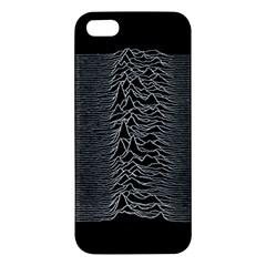 Grayscale Joy Division Graph Unknown Pleasures Iphone 5s/ Se Premium Hardshell Case