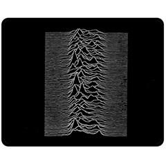 Grayscale Joy Division Graph Unknown Pleasures Double Sided Fleece Blanket (medium)