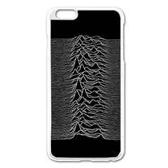 Grayscale Joy Division Graph Unknown Pleasures Apple Iphone 6 Plus/6s Plus Enamel White Case