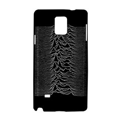 Grayscale Joy Division Graph Unknown Pleasures Samsung Galaxy Note 4 Hardshell Case