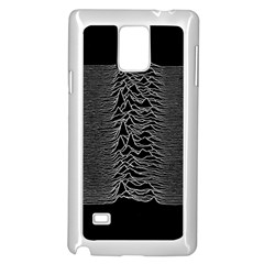 Grayscale Joy Division Graph Unknown Pleasures Samsung Galaxy Note 4 Case (white)