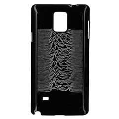 Grayscale Joy Division Graph Unknown Pleasures Samsung Galaxy Note 4 Case (black)