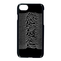 Grayscale Joy Division Graph Unknown Pleasures Apple Iphone 7 Seamless Case (black)