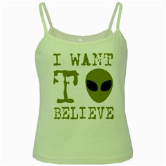 I Want To Believe Green Spaghetti Tank