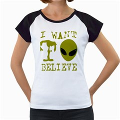 I Want To Believe Women s Cap Sleeve T