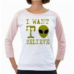 I Want To Believe Girly Raglans