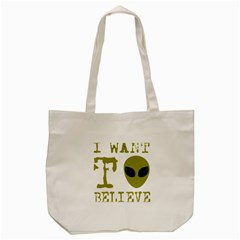 I Want To Believe Tote Bag (cream)
