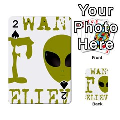 I Want To Believe Playing Cards 54 Designs