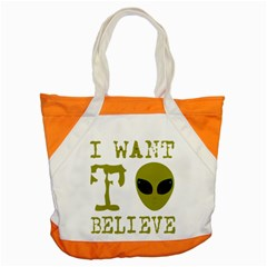 I Want To Believe Accent Tote Bag