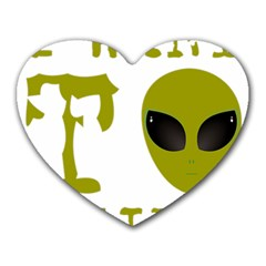 I Want To Believe Heart Mousepads