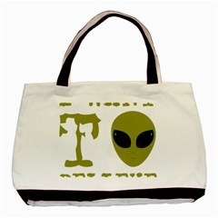 I Want To Believe Basic Tote Bag (two Sides)
