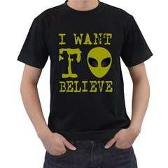 I Want To Believe Men s T Shirt (black)