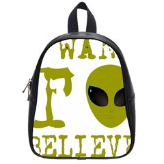 I Want To Believe School Bags (small)