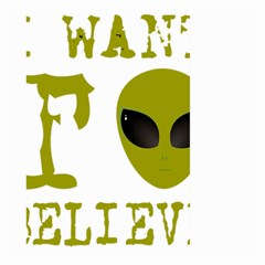 I Want To Believe Large Garden Flag (two Sides)